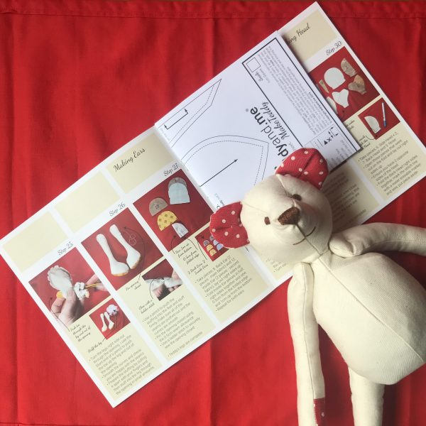 MakeTeddy Sewing Pattern and teddy