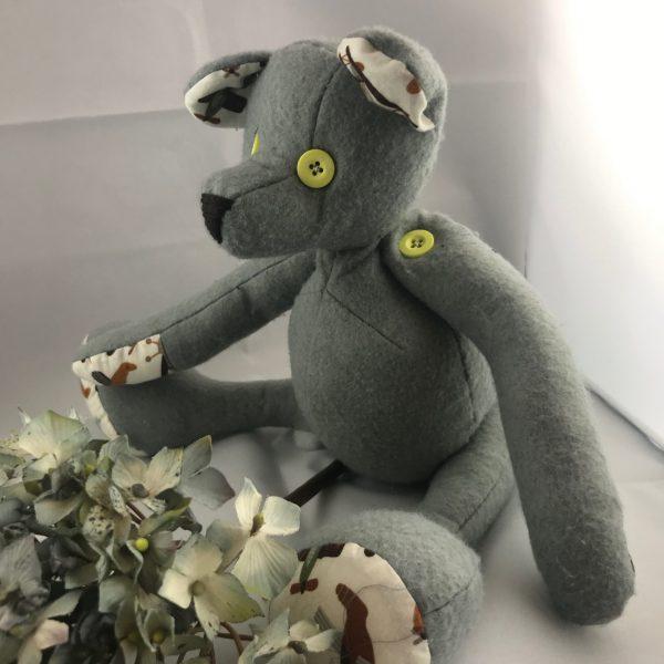 Grey Teddy with button eyes