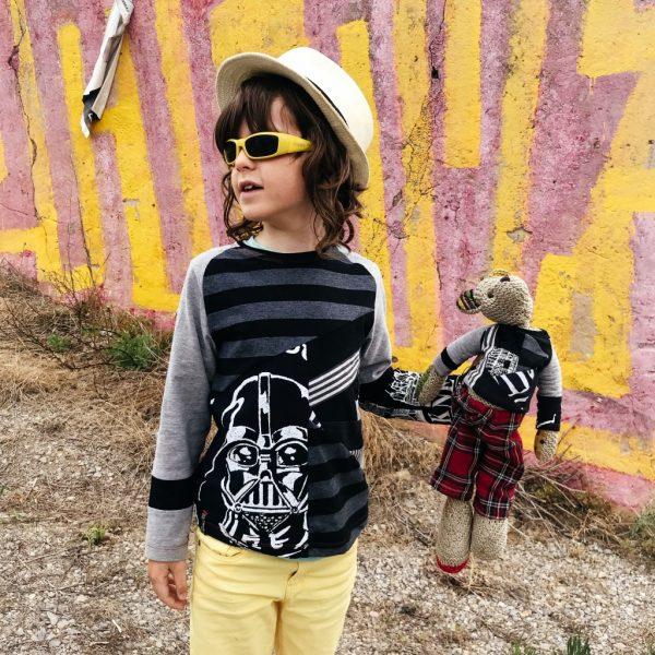 Xavi and Teddy in matching VortexTshirts
