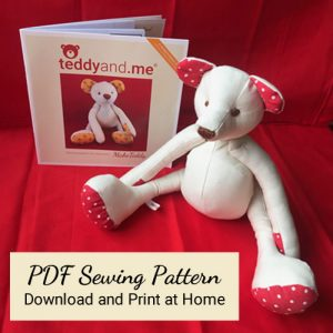 MakeTeddy PDF Sewing Pattern and Teddy