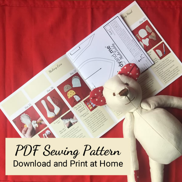 PDF MakeTeddy Sewing Pattern and teddy