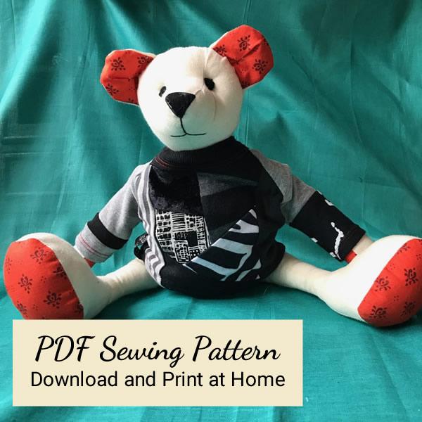 PDF Sewing Pattern - Teddy in a VortexTshirt