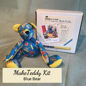 Make Teddy Blue Bear Sewing Kit
