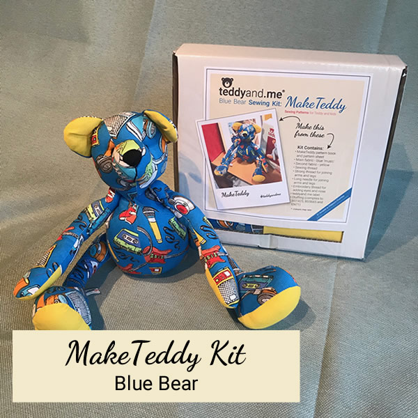 Make Teddy Blue Bear Sewing Kit