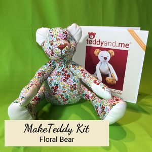 Make Teddy Floral Sewing Kit