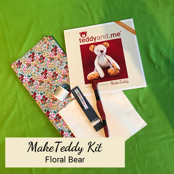 Make Teddy Floral Sewing Kit - Contents