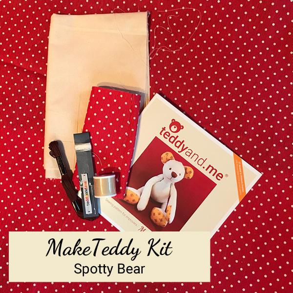 Spotty Make Teddy Kit - Contents