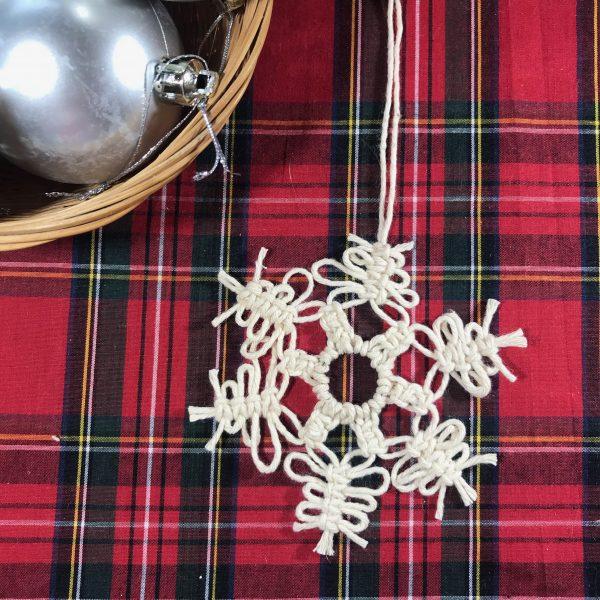 Christmas Macrame - Snowflake